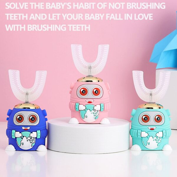Smart 360 Degrees XioMi Electric Toothbrush Kids Silicon Automatic Ultrasonic Teeth Tooth Brush Cartoon Pattern Children 2